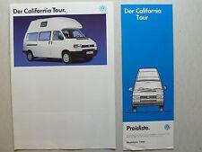 Prospekt Volkswagen VW Bus T4 California Tour, ohne Datum, 4 S.+Preisliste 1993