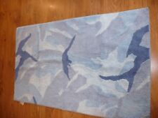 Next Boys Bed Room Play Room Rug Carpet Mat - Blue Skater theme in good Cond!!