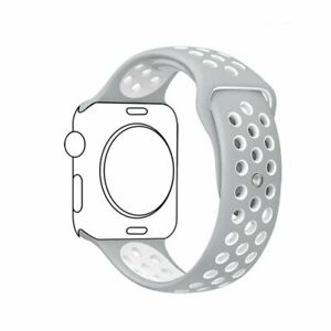 Silicone wrist bracelet strap iwatch band For apple watch series 7/6/5/4 41/45mm