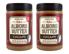 VALUE 2 PACK* Trader Joe's Raw Almond Butter Creamy Unsalted ***FREE SHIPPING