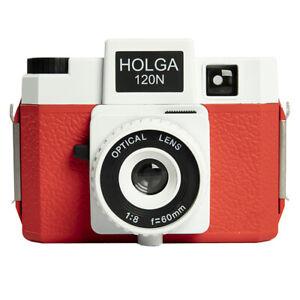 HOLGA 120N White Red Lomo Medium Format Film Camera New UK Stock 120 N Holga