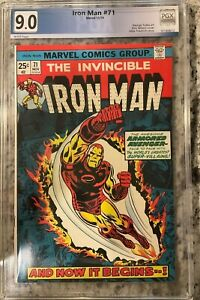 IRON MAN #71 PGX 9.0!! NEW CASE!! NOT CGC Huge Auction going on!!