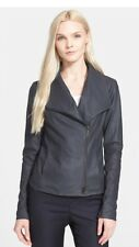 Auth. NWT Vince 'Coastal Blue'Scuba Leather Jacket Size Small $995.