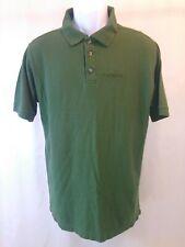 Carhartt Short Sleeve Polo Work Shirt Green 100% Cotton Mens Medium Regular