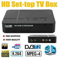 DVB-T/T2 HD 1080P Set-top TV Box HDTV Tuner Decoder Satellite Receiver USB PVR