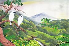 Hand painting Balinese Starling Birds 324