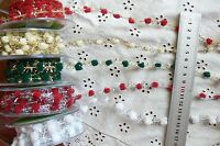 7mm Pom Pom Sparkle String Christmas 5 Colours Wired 3 Metres MayArts ChoiceBLD2