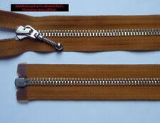 Opti Zipper Fasten Metal divisible Jewelry sliders 90 cm ocher
