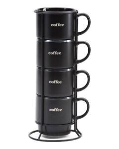 SIGNATURE HOUSEWARES 4pc Coffee Mug Tower