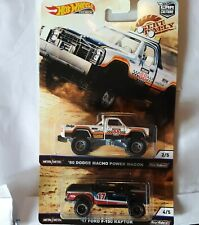 Hot Wheels  Desert Rally,lot 2,80 Dodge Macho Power wagon and 17 Ford F150 Rapto
