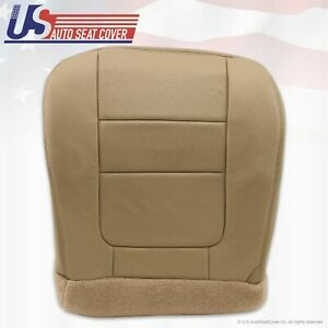 2001 Ford F-250 F350 Lariat Driver Bottom Leather Seat Cover Parchment TAN