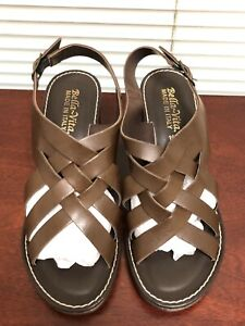 Bella Vita Italy Women's Max Brown Leather Slingback Sandal US 10W