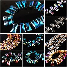 Wholesale Glass Crystal Trapezium Loose Beads Crafts Charms Findings 10x20mm