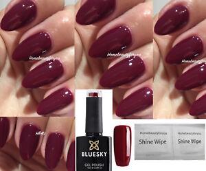 BLUESKY GEL POLISH RED BURGUNDY TINTED LOVE 80557 NAIL UV LED SOAK OFF, 2 =FILE