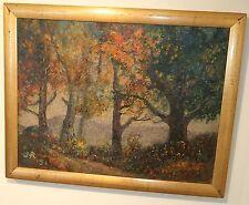 Woodland Vista Landscape Oil Painting-1951-James N. Rosenberg-NY Listed
