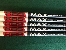 New KBS MAX Graphite Iron Shaft - 85X Extra Stiff Flex .370 Parallel Tip