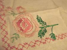 "Vintage 20s 30s Needlepoint  LINEN Dresser Scarves LOT  Embroidery 16"" +FLOSS"