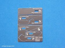 RB-23 Micro Saw Set: (22+/cm 2 ea: curved, tapered, straight)