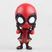 10cm Deadpool Figure Bobble-Head Scale Painted Doll PVC Action Figure Toy