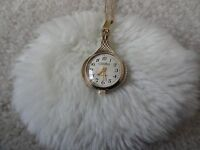 Vintage Russian 17 Jewels Wind Up Pendant Necklace Watch