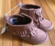 """Toys R Us Baby Girls Boots Size 5 Brown Suede  """"NEW"""""""