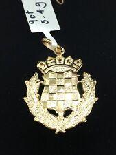 9ct Yellow Gold Pendant | Croatian Emblem | Brand New Instore
