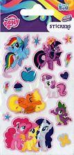 3 PEGATINA Láminas My Little Pony Arcoiris Bolsas Cotillón Sábana Relleno