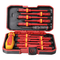 13pcs Pro Electricians Insulated Electrical Hand Screwdriver Set Kit 1000V