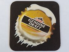 Beer COASTER ~ LABATT Brewing Co Genuine Draft ~ London, Ontario, CANADA Brewery