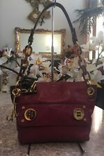 NWT MILLY Sophia Berry Leather Gold Chain Shoulder Bag Purse MSRP $385