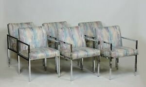 Six Design Institute of America DIA Mid Century Modern Chrome Dining Chairs