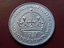 Australia.  1938 Crown...  Much Lustre - gEF
