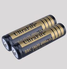 2 Ultrafire 18650 3.7v Li-ion Protected Rechargeable Battery 4000mAh UK STOCK