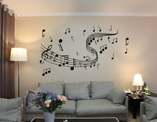Art Mural Home Decor Wall Room Music Musical Notes Decal Sticker  UK RUI100