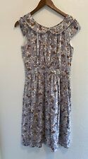 Emily and Fin Modcloth Poppy Dress Size Small  Gray Violet Floral