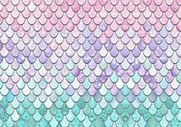 MERMAID FISH SCALES Edible A4 Size Kids Birthday Cake WAFER PAPER Images Topper