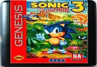 Sonic The Hedgehog 3 (1994) 16 Bit Game Card For Sega Genesis/Mega Drive System