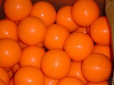 * SALE * 9 NEON Orange Glow Plastic SKEE BALL Balls * Black-Light Balls * SALE *