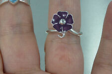 MichaelMJewelry - Flower Forget Me Not Enamel Masonic Ring .925 Sterling Silver