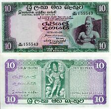 Ceylon 10 Rupees Banknote World Paper Money aUNC Currency Pick p-74c (SRI LANKA)
