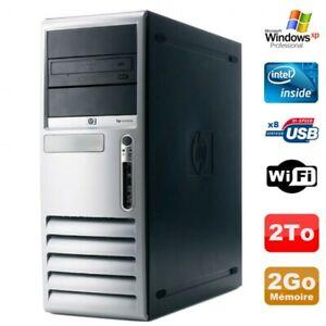 PC HP Compaq DC7100 Tour Pentium 4 HT 521 2.8Ghz 2Go DDR 2To SATA Xp Pro WIFI