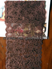 1 yard, Flower Stretch Lace Trim Ribbon Sewing Dress Skirt DIY Handicraft FL186