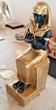 Pharao und Isis Figur Dekofigur auf Thron Ägypten Göttin Pyramide BLACKFORM