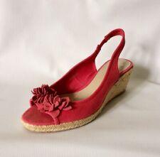 Clarks Detalle Floral Cuña Punta Abierta Zapatos Talla 6 Sin Uso