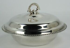 WM A Rogers Silverplate Covered Round Bowl With Lid