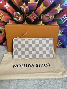 Louis Vuitton Felicie Insert Wallet Damier Azur Rose Ballerine Interior