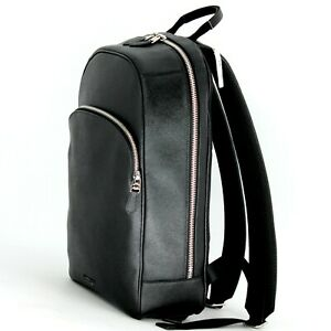 Coach Beckett Business Backpack in Black Leather with Laptop Compartment New