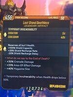 "Borderlands 3 Legenday Artifact Lvl 50 ""Last Stand Deathless"" (Xbox 1)"