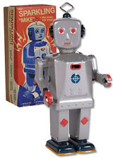 Schylling Sparkling Mike Robot Windup Tin Toy NEW!