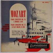 MOZART: Piano Concerto BADURA-SKODA Westminster ORIG 50s WL 5097 Vinyl LP